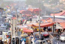 راولپنڈی : پیر ودھائی موڑ پر تجاوزات کے باعث ٹریفک جام کا منظر