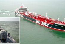تہران: برطانوی آئل ٹینکر خلیج فارس میں سفر کررہا ہے' ایرانی جنگی جہاز اسٹینا امپیرو کو ضبط کرنے کے لیے آگے بڑھ رہا ہے