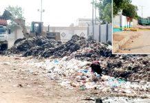 ملیر کی مین شاہراہ عبداللہ نعیمی سے متصل آبادی کے درمیان ایچ ایریا کے علاقے کو ٹاؤن انتظامیہ نے کچرے کا ڈمپنگ پوائنٹ بنا رکھا ہے