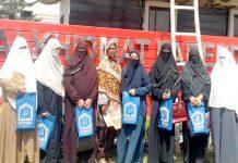 جماعت اسلامی حلقہ خواتین کراچی کی رہنمائوں کا فریدہ یعقوب اسپتال کے دورے پر وفد کا گروپ فوٹو