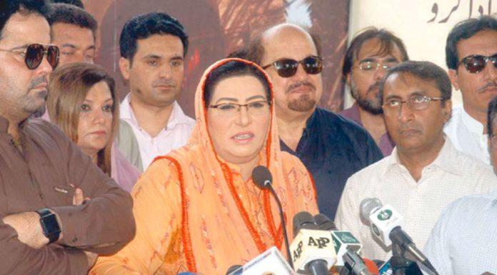 کراچی:مشیر اطلاعات فردوس عاشق اعوان پریس کلب میں میڈیا سے بات چیت کررہی ہیں