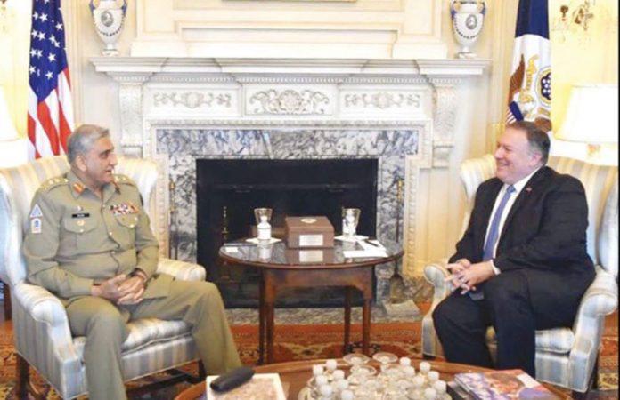 واشنگٹن: آرمی چیف جنرل قمر جاوید باجوہ سے امریکی وزیر خارجہ مائیک پومپیو سے ملاقات کر رہے ہیں