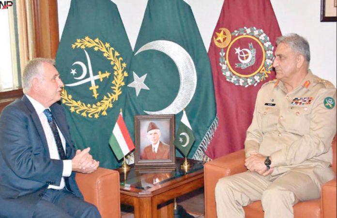 راولپنڈی: آرمی چیف جنرل قمر جاوید باجوہ سے ہنگری کے سفیرملاقات کررہے ہیں