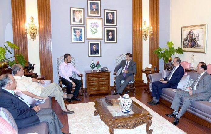 کراچی: وزیراعلیٰ سندھ سید مراد علی شاہ سے کینسر فائونڈیشن کاوفد چیئرمین مقصود انصادی کی سربراہی میں ملاقات کررہاہے