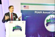 اسلام آباد:سالانہ کانفرنس سے سفیر Paul Jonesخطاب کررہے ہیں