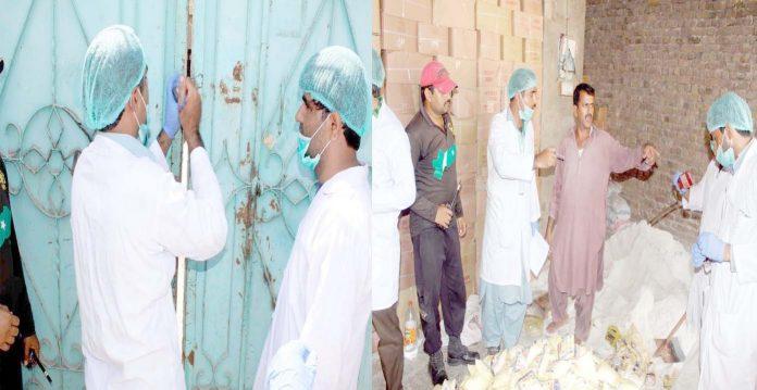 لاڑکانہ ،سندھ فوڈ اتھارٹی کی جانب سے نمک کے کارخانوں پرچھاپے مارے جارہے ہیں ،دوسری جانب ایک کارخانہ سیل کیا جارہاہے