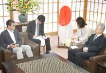 ٹوکیو: جاپانی وزیر خارجہ تارو کونو تجارتی تنازع پر جنوبی کوریا کے سفیر نام گوان پیو سے گفتگو کررہے ہیں