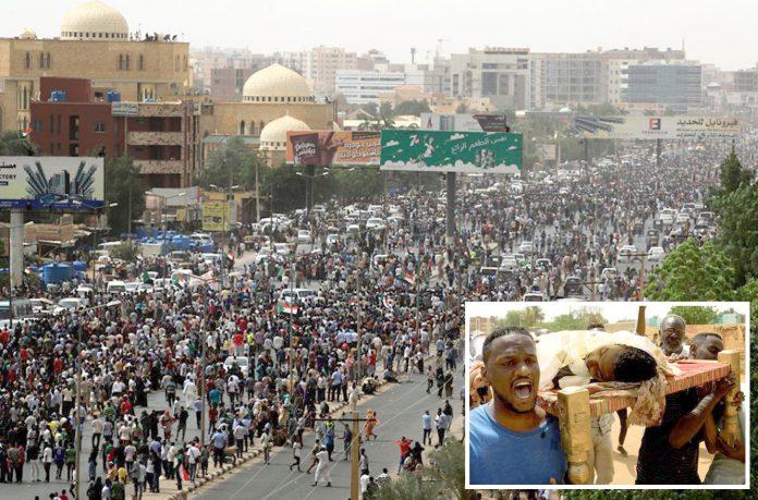 خرطوم: فوجی حکومت کے خلاف عوام احتجاجی ریلی نکال رہے ہیں' شہید ہونے والے مظاہرین کی لاشیں منتقل کی جارہی ہیں