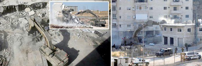 مقبوضہ بیت المقدس: مغربی کنارے میں قابض صہیونی فوج کے حصار میں فلسطینیوں کی رہایشی عمارتیں مسمار کی جارہی ہیں