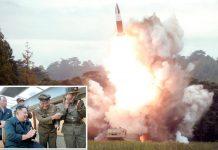 شمالی کوریا: میزائل فضا میں بلند ہورہا ہے' سربراہ مملکت کم جونگ اُن تجربے کا مشاہدہ کررہے ہیں