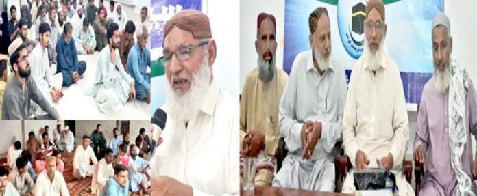 شکارپور،جماعت اسلامی کے 78 ویں یوم تاسیس کی تقریب سے مولانا اسد اللہ بھٹو خطاب کررہے ہیں