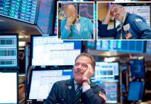 نیویارک: امریکی اسٹاک مارکیٹ میں مندی کا رجحان دیکھ کر عملے اور سرمایہ کاروں نے سر پکڑ لیا ہے