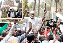 سوڈان: تاریخی موقع پر عوام جشن منا رہے ہیں' چھوٹی تصویر فوج اور حکومت کے درمیان معاہدے پر دستخط کی تقریب کی ہے