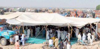 حیدر آباد : جامشورو بائی پاس پر موٹر وے پولیس کی زیادتی کیخلاف ٹرانسپورٹوں نے ہڑتال کر رکھی ہے