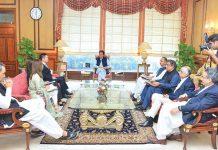 اسلام آباد: وزیراعظم عمران خان سے چین پاور حب جنریشن کمپنی کا وفد ملاقات کررہاہے