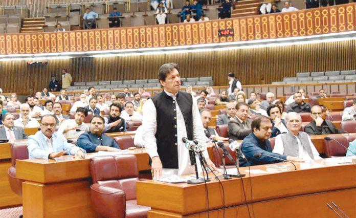 اسلام آباد: وزیراعظم عمران خان پارلیمنٹ کے مشترکہ اجلاس سے خطاب کررہے ہیں