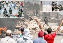 مقبوضہ بیت المقدس: فلسطینی شہری اسرائیلی حکومت کی جانب سے یہودی توسیع پسندی کے منصوبوں کے خلاف مظاہرہ کررہے ہیں
