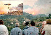 اسپین: جزیرہ گران کناریا کے مکین جنگلات میں لگنے والی آگ کو آبادی کی جانب بڑھتا دیکھ رہے ہیں' فائر بریگیڈ قابو پانے کی کوشش کررہی ہے