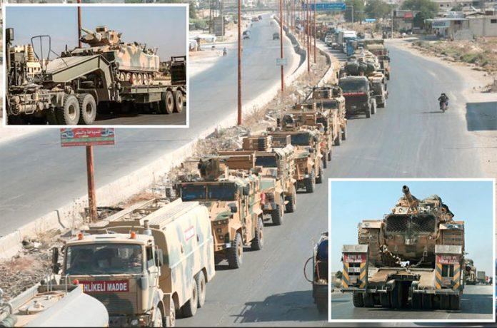 ادلب: قافلے پر بم باری کے بعد ترکی کی مزید فوج اور گاڑیاں شام میں داخل ہورہی ہیں