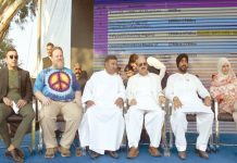 اسلام آباد: اقلتیوں کی جانب سے یکجہتی کشمیر ریلی میں صدر آزاد کشمیر ودیگر اسٹیج پر بیٹھے ہیں