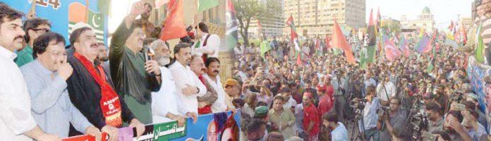 کراچی: وزیراعلیٰ سندھ سید مراد علی شاہ پیپلزپارٹی کے زیر اہتمام مشترکہ جماعتوں کی یکجہتی کشمیر ریلی سے خطاب کررہے