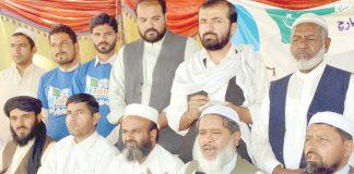 کوئٹہ: امیر جماعت اسلامی بلوچستان مولانا عبدالحق ہاشمی پریس کانفرنس کررہے ہیں