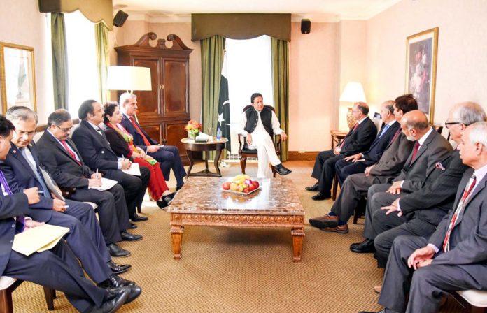 نیویارک،وزیر اعظم عمران خان سے کنٹرول لائن کے دونوں جانب کے کشمیری رہنما ملاقات کررہے ہیں