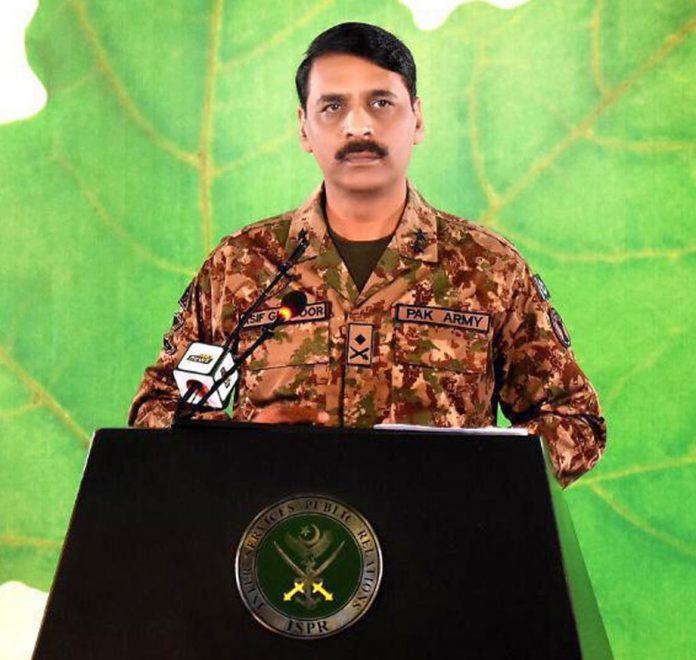 راولپنڈی: ڈی جی آئی ایس پی آر میجر جنرل آصف غفور پریس کانفرنس کررہے ہیں