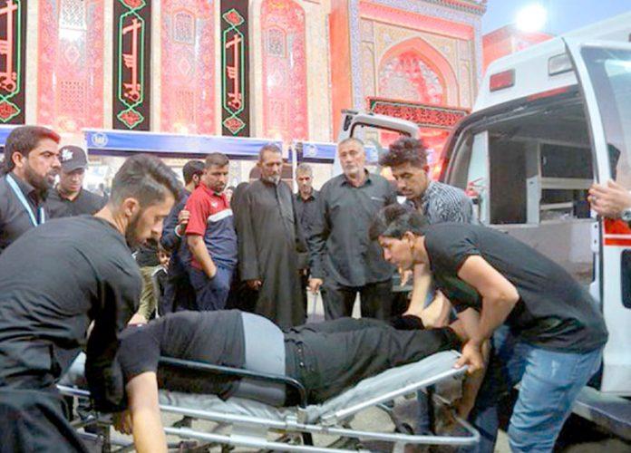 بغداد: کربلا میں بھگدڑ کے بعد زخمیوں کو اسپتال منتقل کیا جا رہا ہے