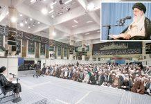 تہران: رہبراعلیٰ خامنہ ای اپنے مذہبی طبقے سے خطاب کے دوران امریکا سے کشیدگی پر اظہارِ خیال کررہے ہیں