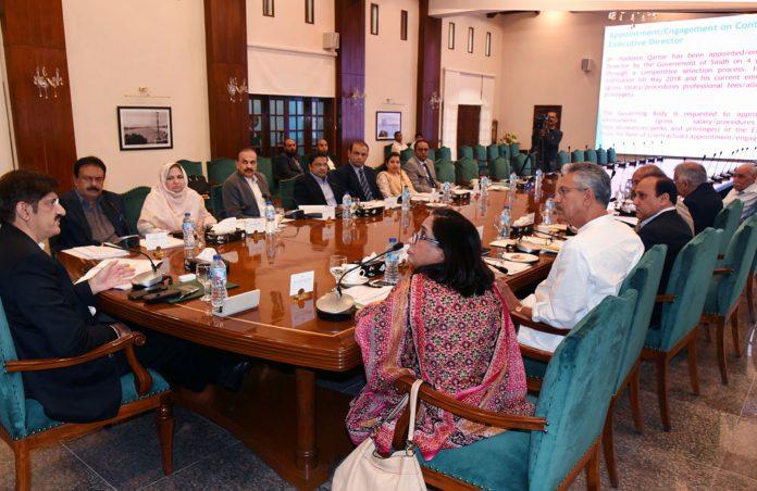 کراچی: وزیراعلیٰ سندھ سید مراد علی شاہ این آئی سی وی ڈی کے اجلاس کی صدارت کررہے ہیں