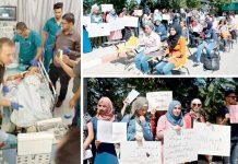 رام اللہ: صہیونی انتخابات پر پابندیوں کے خلاف جامعہ بیرزیت کی طالبات احتجاج کررہی ہیں' اسرائیلی فوج کی گولی سے شدید زخمی بچے کو طبی امداد دی جارہی ہے