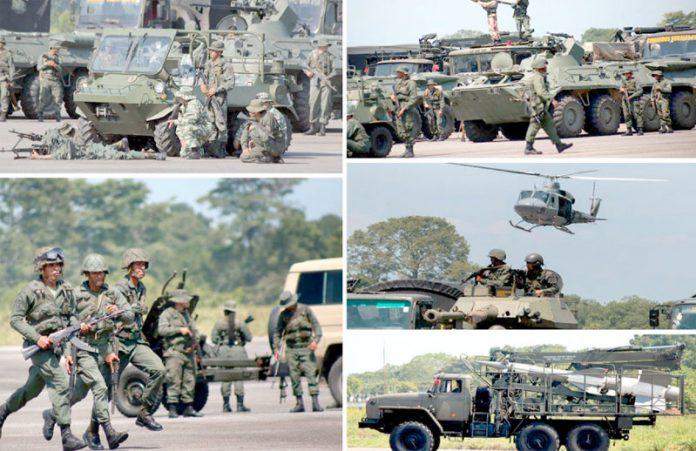 کراکس: وینزویلا کی فوج پڑوسی ملک کی سرحد کے قریب مشقوں میں مصروف ہے
