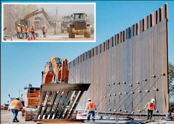 ایریزونا: میکسیکو سے متصل سرحد پر دیوقامت آہنی دیوار نصب کی جارہی ہے