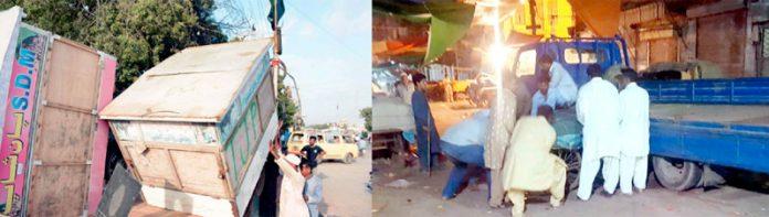 کورنگی اور گاڑی کھاتہ میں انسداد تجاوزات کا عملہ غیر قانونی پتھاروں کے خلاف کارروائی کر رہا ہے