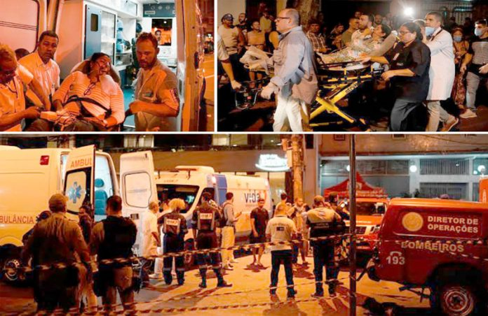 ریو ڈی جنیرو (برازیل): اسپتال میں آگ لگنے کے باعث مریضوں کو منتقل کیا جارہا ہے