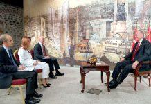 انقرہ: تُرک صدر رجب طیب اردوان برطانوی خبررساں ادارے رائٹرز کو انٹرویو دے رہے ہیں