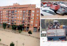 اسپین: سیلاب کے باعث سڑکیں نہر کا منظر پیش کررہی ہیں' پانی کا ریلا گاڑیاں بہا لے جارہا ہے' شہریوں کو ٹرک کے ذریعے متاثرہ علاقے سے نکالا جارہا ہے