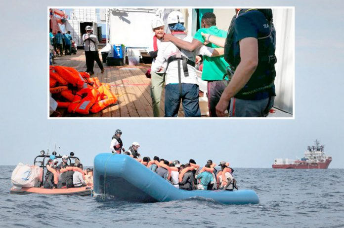 بحیرہ روم: امدادی جہاز اوشین ویکنگ تارکین وطن کو بچا اور امداد فراہم کررہا ہے