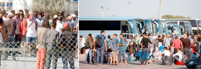 یونان: بحیرہ روم کے جزیرے لیسبوس پر پُرتشدد احتجاج کے بعد تارکین وطن کو منتقل کیا جا رہا ہے
