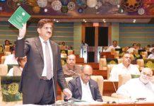 کراچی: وزیراعلیٰ سندھ سید مراد علی شاہ سندھ اسمبلی سے خطاب کررہے ہیں