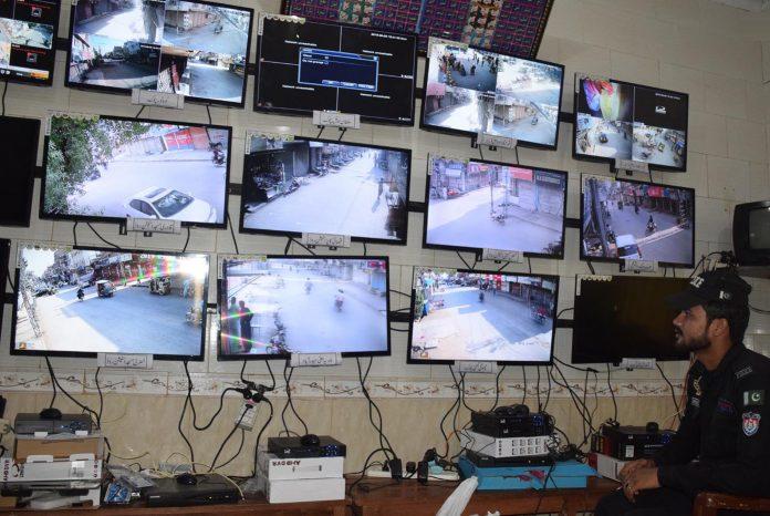حیدرآباد: سٹی پولیس اسٹیشن میں قائم کنٹرول روم سے 9 محرم کے جلوسوں کی مانیٹرنگ کی جارہی ہے