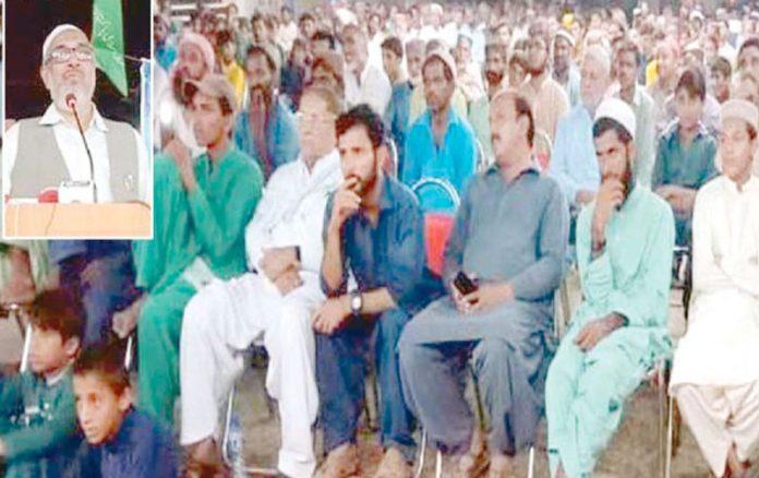 لاہور: نائب امیر جماعت اسلامی راشد نسیم کندھ کوٹ میں شہادت حسین کانفرنس سے خطاب کررہے ہیں