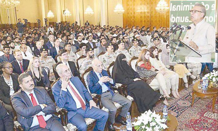 اسلام آباد: صدر عارف علوی امان پروجیکٹ کی افتتاحی تقریب سے خطاب کررہے ہیں