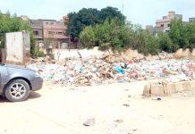ملیر جی ایریا میں عیدگاہ پارک کچرا کنڈی کا منظرپیش کررہاہے