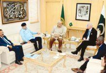 اسلام آباد: وزیرداخلہ اعجاز احمد شاہ سے اقوام متحدہ کا وفد ملاقات کررہا ہے