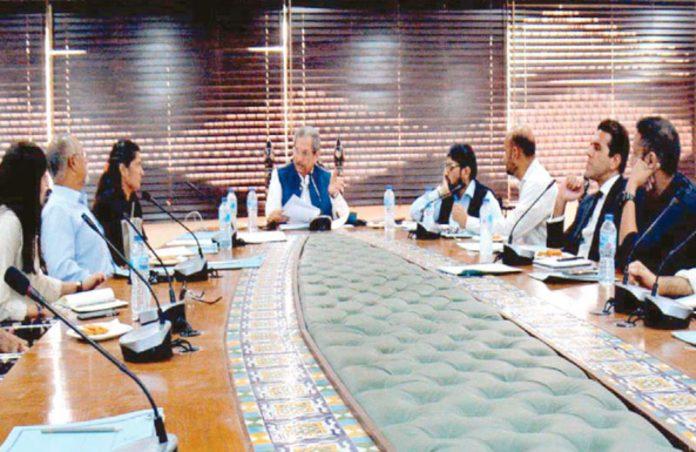 کراچی: وفاقی وزیرتعلیم شفقت محمود سے سٹیزن ایڈوائزری کمیٹی کا وفد ملاقات کررہا ہے