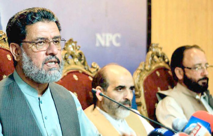 اسلام آباد: امیر جماعت اسلامی آزاد کشمیر خالد محمود پریس کانفرنس کررہے ہیں