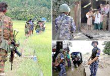 راکھین: میانمر کی فوج اور پولیس مختلف ہتھکنڈوں سے روہنگیا مسلمانوں کو خوف زدہ کررہی ہے