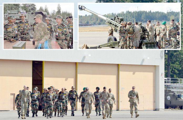واشنگٹن: امریکا اور بھارت کے فوجی مشترکہ مشقیں کررہے ہیں